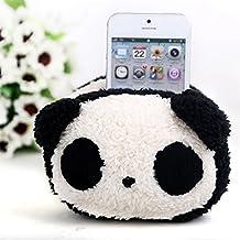Wuiyepo precioso escritorio Productos de oficina móvil de la felpa titular del teléfono celular para el iPhone iPad (Panda)