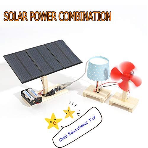 YQYJX Pädagogische Experimentiersuite Solarkraftwerk Handgemachtes Pädagogisches Spielzeug des Vorbildlichen Zusammenbauenden Puzzlespiels