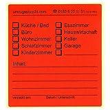 20 Beschriftungsetiketten für Umzugskartons rot