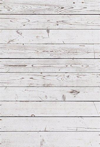 YongFoto 2x3m Foto Hintergrund Holzoptic Altes Verwittertes Weißes Hölzernes Rustikales Beschaffenheits Holz Brett Fotografie Hintergrund Photo Booth Baby Party Banner Kinder Fotostudio Requisiten