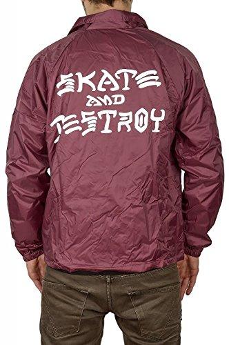 Thrasher Skate & Destroy Coach maroon Chaqueta Tamaño M