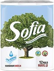 Sofia 3 Katlı Kağıt Havlu 12'Li, 1 Paket (1 X 12 A