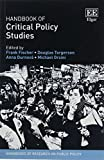 Handbook of Critical Policy Studies (Handbooks of Research on Public Policy Series)