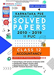 Oswaal Karnataka PUE Solved Papers II PUC AccountancyBook Chapterwise & Topicwise (For March 2020 E