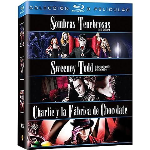 Pack: Sweeney Todd: El Barbero Diabólico De La Calle Fleet + Sombras Tenebrosas + Charlie Y La Fábrica De
