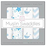 Best HALO Swaddle Blankets - SwaddleDesigns X-Large Cotton Muslin Swaddle Blankets, Little Ships Review
