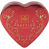 Pralinen - 7 Sorten ausgesuchter Pralinen - 'Prestige Metallherz' von Chocolat Frey Schweiz - 100g, eignet sich für die Weihnachtszeit
