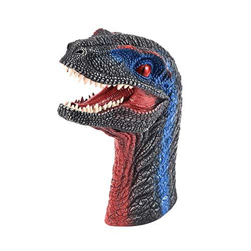 ssionsspielzeug, Dinosaurier Handpuppe Gummi Dino Raptor Kopf Spielzeug Party Halloween Dekor Geschenke ()
