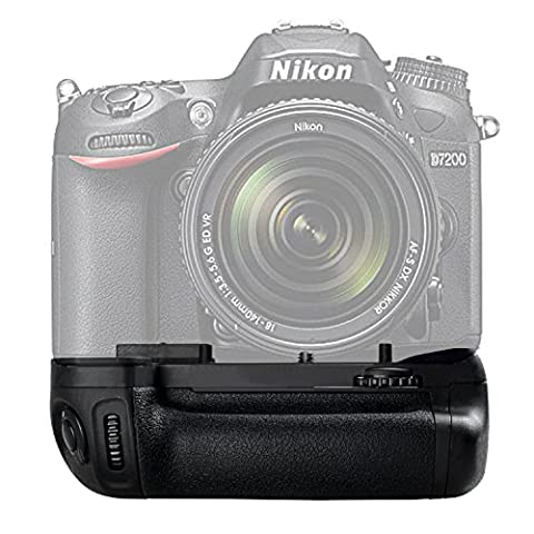 Yeeteem BG-2N Vertikaler Batteriegriff Ersatz für Nikon D7100 D7200 Kamera