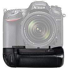 Empuñadura para Nikon D7100 D7200 - Yeeteem BG-2N empuñadura de batería para Nikon D7100 D7200 Cámara réflex digital Battery Grip reemplazo para Nikon MB-D15 funciona con 1 piezas EN-EL15 o 6 piezas pilas AA