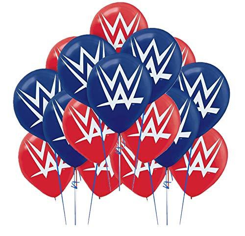 (Amscan Grand Slammin 'WWE bedruckt Geburtstag Party Latex Luftballons Dekoration, 30,5cm rot/blau)