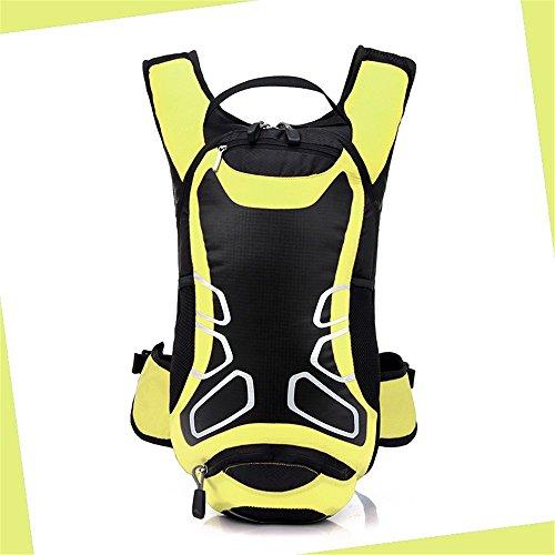 Wandern Rucksack Outdoor 12L Wasserdichte Reise Bergsteigen Fahrrad Radfahren Tasche Schulter Rucksack Yellow