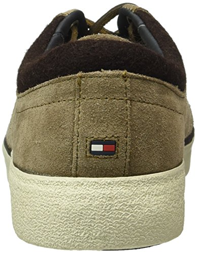 Tommy Hilfiger W2285illis 1b, Baskets Basses Homme Marron - Marron (Shitake 230)