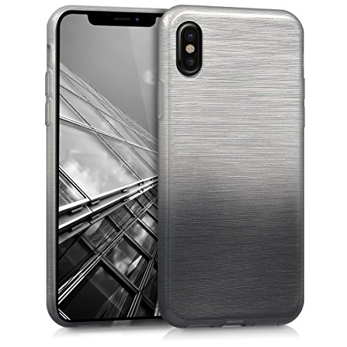 kwmobile Apple iPhone X Hülle - Handyhülle für Apple iPhone X - Handy Case in Anthrazit Silber