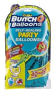 Zuru 51673 Bunch O Balloons Party - Globos de Colores (40 Unidades, en 40 Segundos, 24 Globos y Adaptador, 8 Modelos Diferentes, no es Posible Elegir)