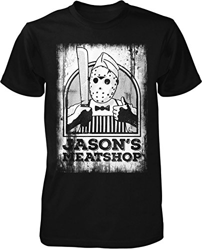 Jason Meat Shop T-Shirt Klassiker Kult Freitag Film 13. Movie Horror Halloween