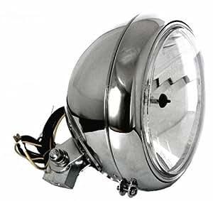 7 «phares et verre transparent chromé big custom pour harley fatboy, etc.