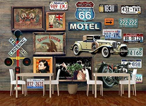 Carta Da Parati Route 66 Targa Murale Carta Da Parati Per Bar Sfondo Pareti Soggiorno Arredamento Carta Da Parati