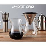 HURED, Bean Plus Hand Drip Set, MYDRIP CD02, Coffee Maker, Coffee Brewer, Drip Cone Coffee Filter, Drip Kettle