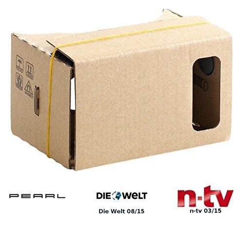 """PEARL VR Brille Smartphone: Virtual-Reality-Brille VRB50.3D, Bausatz für Smartphones (4\""""-5\"""") (3D Brille Handy)"""