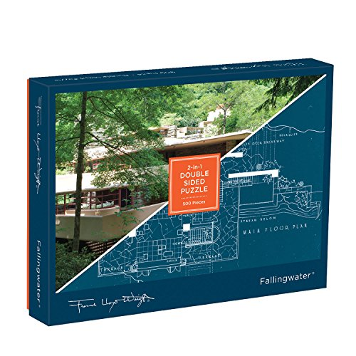 Frank Lloyd Wright Fallingwater 2-sided 500 Piece Puzzle (Puzzles) -