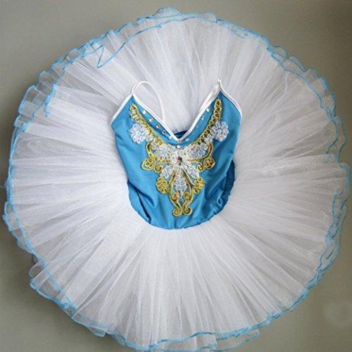 Kinder Ballett Kostüme Puffed Rock Dance Kostüme Spandex Stoff Tanz Wettbewerb Kostüm Rose Rot Rosa Rot ()