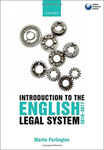 Introduction to the English Legal System 2016-2017 by Martin Partington (2016-04-21)