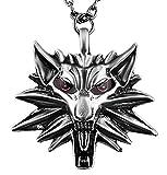 ஜ Collier Witcher 3Wild Hunt tête de loup Jeu Cosplay idée cadeau