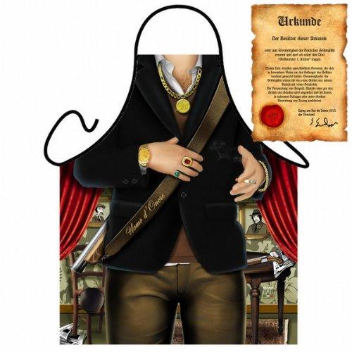 Uomo d'onore Ehrenmann: Old Mafia Man - Sizilianische Mafia - Kostüm Schürze one Size Fb bunt mit gratis Urkunde : (Mafia/pate Kostüme)