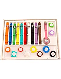 Virom Analogue Multicolor Dial Girl's Watch With 11 Interchangeable Dial And 11 Strap