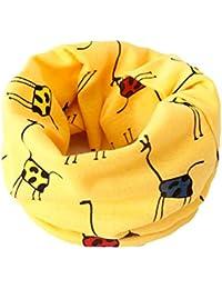 nikgic pura bufanda de algodón para niño de Super Suave patrón de sombrero para bebés con nettem Máscaras de nuevo año de regalo de Navidad (Amarillo)