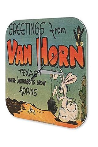 Agence Voyage Vacances Décoration Horloge Van Horn Texas Plexiglas