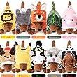 JANDZ Costumes Moelleux pour Animaux de Compagnie: Sweats à Capuche de Haute qualité pour Chiens et Chats: Tailles XS-XL, 10 modèles: séries Animale/Anime: Lion, Renne, Panda, Pikachu, Totoro, etc.