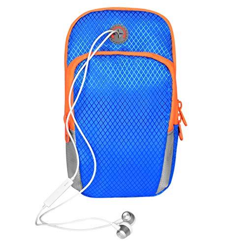 Sportarmband mit Reißverschluss für Samsung Galaxy S9 Active / A7 / iPhone XS Max/iPhone XR/Google Pixel 3 XL/LG V40 ThinQ/LG Stylo 4 Plus/Nokia 7.1 / Sony Xerperia XZ3, blau (Boost Sony-handys Mobile)