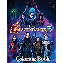 Disney Descendants 3 Coloring Book: 50+ Funny Descendants Coloring Pages for Kids and Adults
