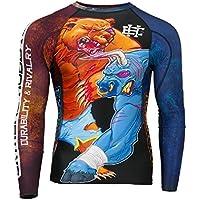 Bull & Orso Manica Lunga Protezione Abrasioni Top. Extreme Hobby Durevoli & competizione. MMA Indumento da combattimento