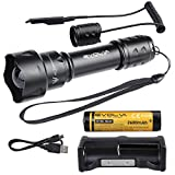 Evolva Future Technology T20 Infrared Light IR Flashlight Torch with Famous Osram Black
