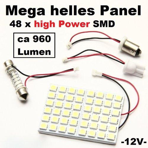 Preisvergleich Produktbild LED Panel 48 x 5050smd Laderaum Innenraum Beleuchtung Camping Taxi Transporter