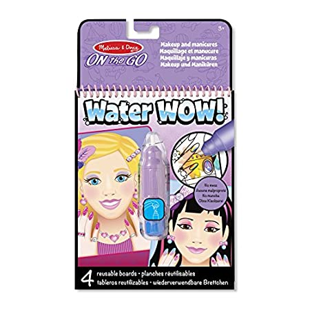 Melissa & Doug Water Wow Malblock – Malen mit Wasser – Makeup & Maniküre (4 Seiten)
