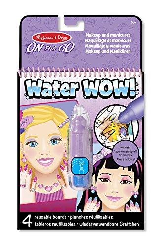Melissa & Doug Water Wow Malblock - Malen mit Wasser - Makeup & Maniküre (4 Seiten)