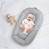 Sdraio per neonati, extra morbido, portatile, con fodera in cotone traspirante e borsa da viaggio – ottima idea regalo per neonati, per stare seduti, pancia, passeggino e altro