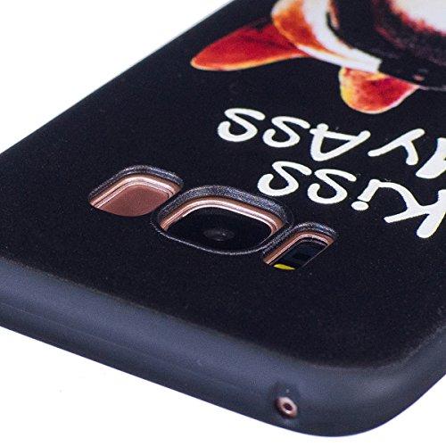 Coque Galaxy S8, Étui Galaxy S8, ISAKEN Coque Samsung Galaxy S8 - Étui Housse Téléphone Étui TPU Silicone Souple Coque Ultra Mince Gel Doux Housse Motif Arrière Case Antichoc Doux Durable Résistant Au KISS MY ASS