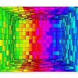 murando - Fototapete Abstrakt 350x256 cm - Vlies Tapete - Moderne Wanddeko - Design Tapete - Wandtapete - Wand Dekoration - bunt geometrisch a-B-0026-a-a