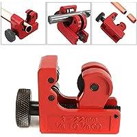 rcdxing Mini cortador de tubo ajustable de 3–22mm tubo de cobre cortador  Rojo