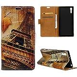 PU Leder Etui Hülle im Bookstyle Handy Tasche für Sony Xperia XZ Schutzhülle Schale Flip Cover Wallet Case (KW18#)