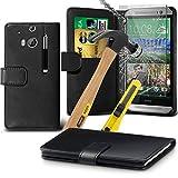 ONX3® ( schwarz ) HTC One M8s Hülle Abdeckung Cover Case