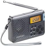 auvisio Kofferradio: 12-Band-Weltempfänger FM/MW/KW, mit Wecker & Sleeptimer (Reiseradio)