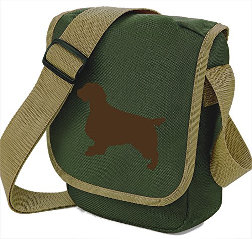 Bag Pixie - Borsa a tracolla unisex adulti Brown Dog on Olive Bag