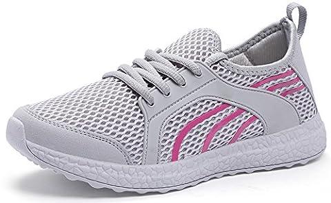 QANSI Chaussures de courses Empeigne en mesh respirante et légère