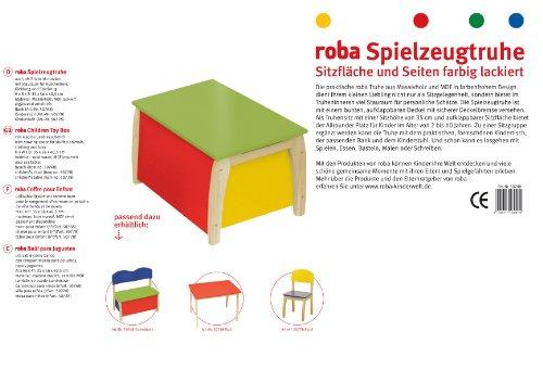 roba 50708 - Kindertruhe, Massivholz, Medium Density Fibreboard lackiert, Truhenfüllung farbig lackiert 35 x 56 x 40,5 cm -